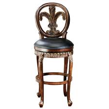hillsdale furniture fleur de lis 31 in warm cherry swivel fleur de lis 31 in warm cherry swivel cushioned bar stool