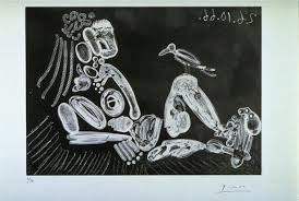 woman with bird 1966 pablo picasso wikiart org