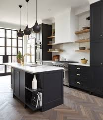 black kitchen cabinets with black hardware 25 trendy contrasting countertops for your kitchen digsdigs