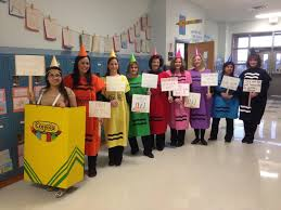crayon costume spirit halloween my awesome second grade team as the crayons from the day the