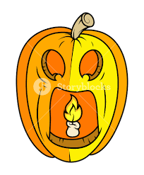 horrible jack o u0027 lantern halloween vector illustration royalty