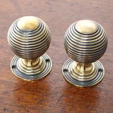 large brass beehive door knobs the period ironmongerthe period