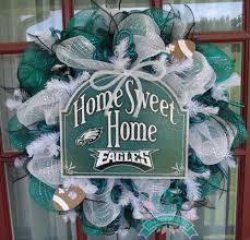 philadelphia eagles home decor philadelphia eagles midnight green black and white deco mesh door