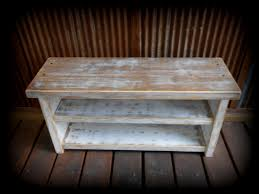 shoe rack bench two tone rustic white by thehenryhouse