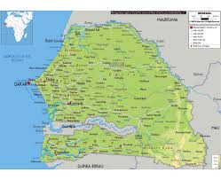 Physical Map Of Southwest Asia by Maps Of Senegal Detailed Map Of Senegal In English Tourist Map