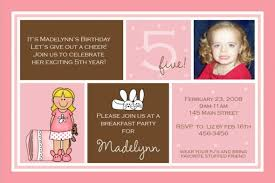birthday invitation greetings 5th birthday invitation wording ideas natalies invitations