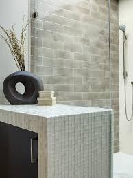 photos hgtv cotentemporary bathroom with blue sea glass tile