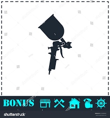 pulverizer painting icon flat simple illustration stock