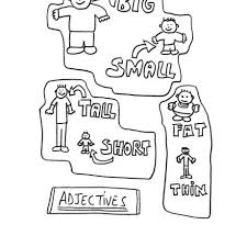 kindergarten activities big and small adjectives big small short tall fat thin worksheet free esl vowel