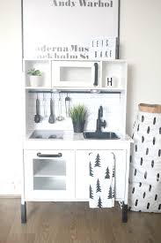 ikea hack duktig play kitchen monochrome makeover oh so amelia