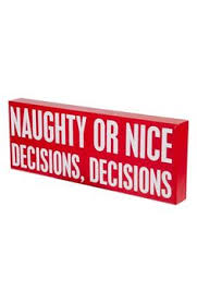 cute naughty or nice box sign http rstyle me n svtzdr9te