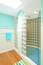 Block Wall Ideas by Inside View Of Shower With Custom Glass Block Wall And Decorative