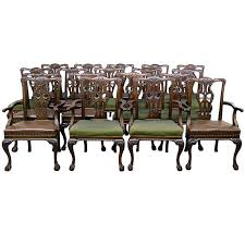chippendale dining room set large and fantastic set of 18 antique chippendale dining room chairs