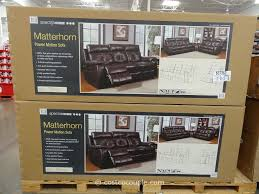 Motion Recliner Sofa by Spectra Matterhorn Leather Power Motion Sofa