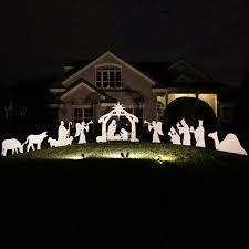 Outdoor Lighted Nativity Set - 18 best outdoor nativity sets images on pinterest christmas