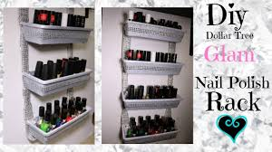 diy dollar tree glam nail polish rack youtube