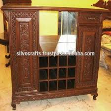 Wine Bar Cabinet Wooden Hand Carved Wine Bar Cabinet Hand Carved Furniture From