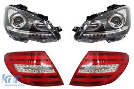 mercedes headlights facelift headlights mercedes benz c class w204 2007 2012 led