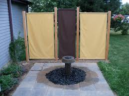 i build this fountain and fabric privacy screens off my deck to