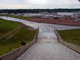 panoramio photo of diversion channel spillway overlooking stockyards