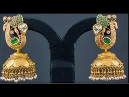 kerala earrings peacocok design kerala jimikki kammal collections gold