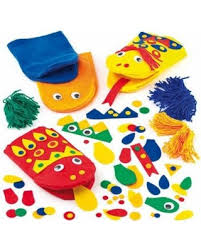 spectacular deal on funky felt puppet kits 5 assorted colors