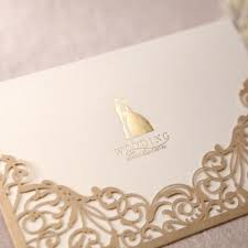 Popular Personal Wedding Invitation Cards Aliexpress Com Buy Gorgeous Lace Cut Out Free Personalized