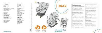 notice siege auto bebe confort notice bebe confort milofix mode d emploi notice milofix