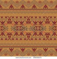 vector seamless texture ethnic tribal geometric stock vector