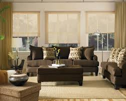 shabby chic livingroom shabby chic living room with brown sofa