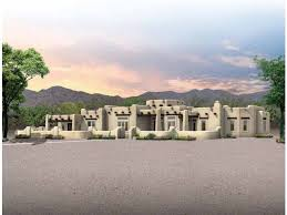 eplans adobe house plan spacious santa fe home 3959 square