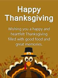 heartfelt turkey happy thanksgiving card birthday greeting