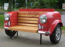 Bench Made From Tailgate 36 Recycled Scrap Metal Into Furniture Project Ideas