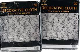 halloween table cover set of 2 black halloween spider web cloth decoration party table cover