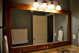 large white framed bathroom mirrors wood wall frames oak and also