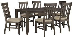 7 piece rectangular dining table set by signature design by ashley
