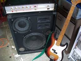 old h u0026h bass amp and speaker cabinet for bass guitar in halifax