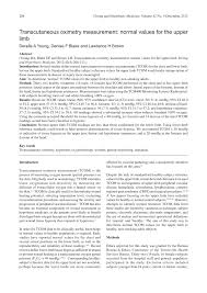 transcutaneous oximetry measurement normal values for the upper