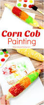 fun corn cob craft painting for kids