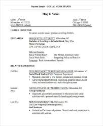 social work resume templates best sample social work resumes
