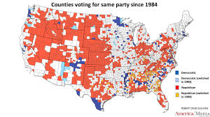 Wisconsin Election Map by How The Red And Blue Map Evolved Over The Past Century America