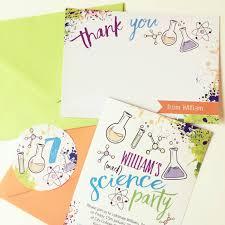 science themed kids birthday party invites u0026 inspiration