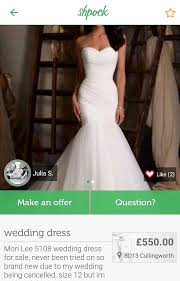 shpock users reveal reasons for selling wedding dresses at half