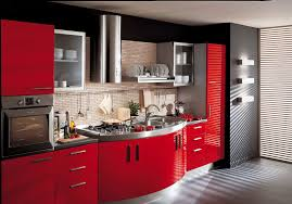 inspirational stunning red kitchen design ideas home design