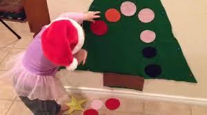 how to make a felt christmas tree for kids youtube