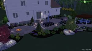 Concrete Patio Design Software by Landscape Design Of A Two Tier Decorative Patio With A Water