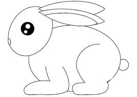 small rabbit coloring free printable coloring pages