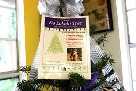 help us make a dog u0027s christmas brighter k9 lokahi tree 2016