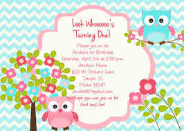 Birthday Invitation Card Owl Birthday Invitations Kawaiitheo Com