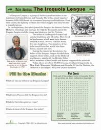 native american tribes iroquois worksheet education com